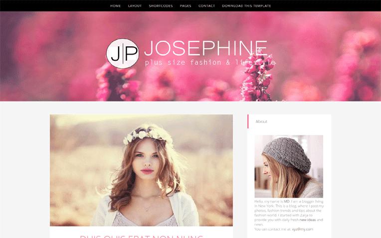 JosePhine Free Blogger Template