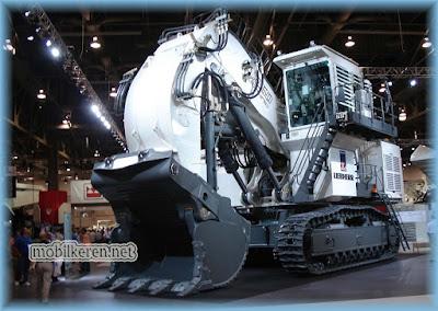 Liebherr Hydraulic Shovel , truk besar, mobil truck terbesar di dunia