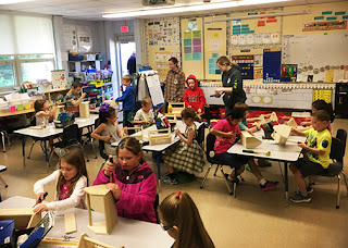 Tri-County Carpentry Students Visit McGovern Elementary in Medway