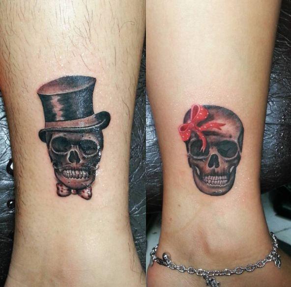 yin yang couple tattoos