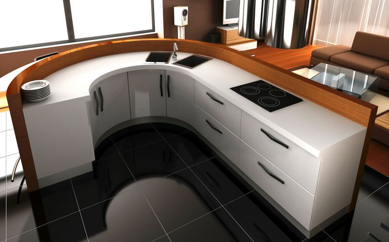 dwell of decor: curved kitchen countertop designs for modern house