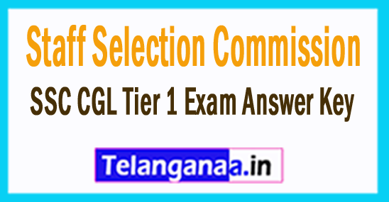 SSC CGL Tier 1 Exam Answer Key 2017