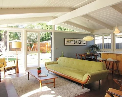 Mid century modern living rooms