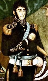Dibujo de José de San Martín a color