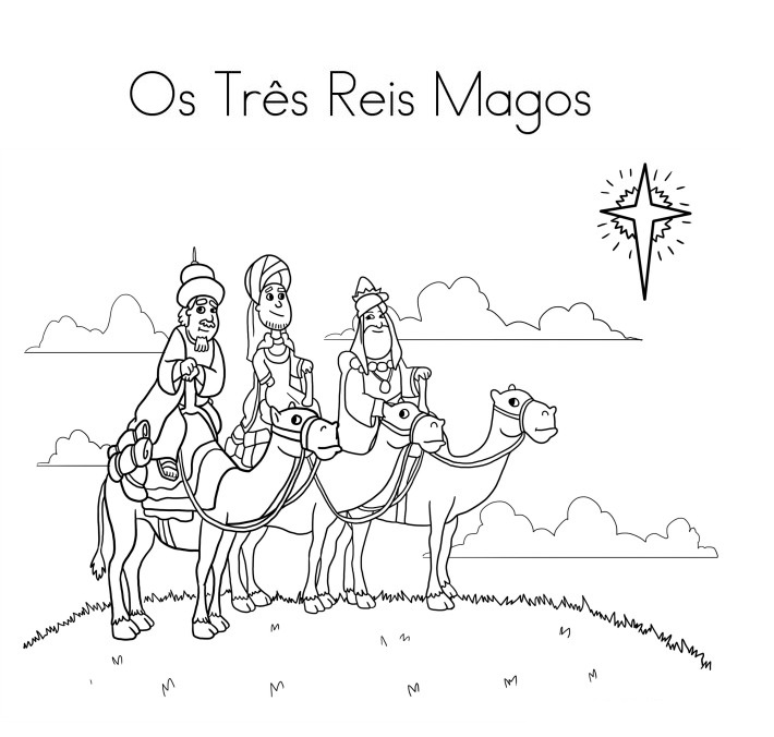Blog De Geografia Os Tres Reis Magos Desenho Para Imprimir E