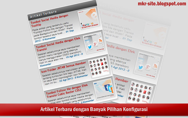 Widget Posting Terbaru dengan Animasi Scroll
