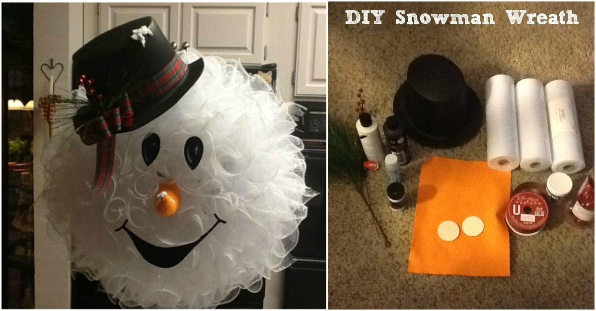 make your front door fun and festive with this easy diy snowman wreath   handy diy
