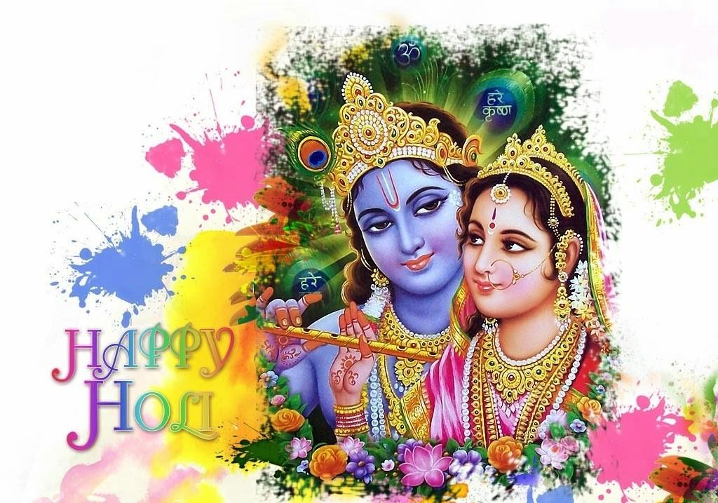 gallery photo of radha krishna with happy holi wishes
