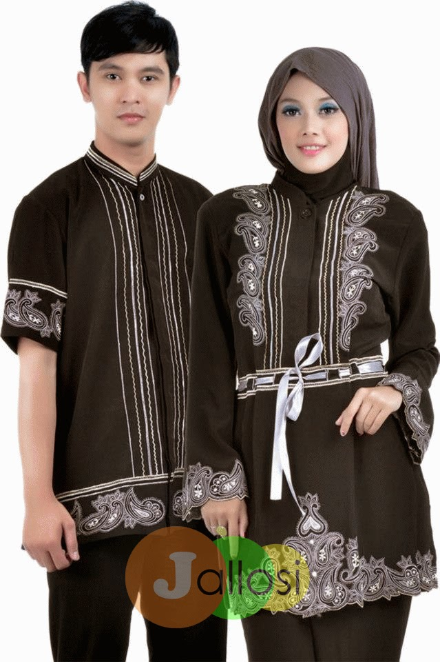 Model Couple Busana Muslim Lebaran 2018  d2eef5c9ed