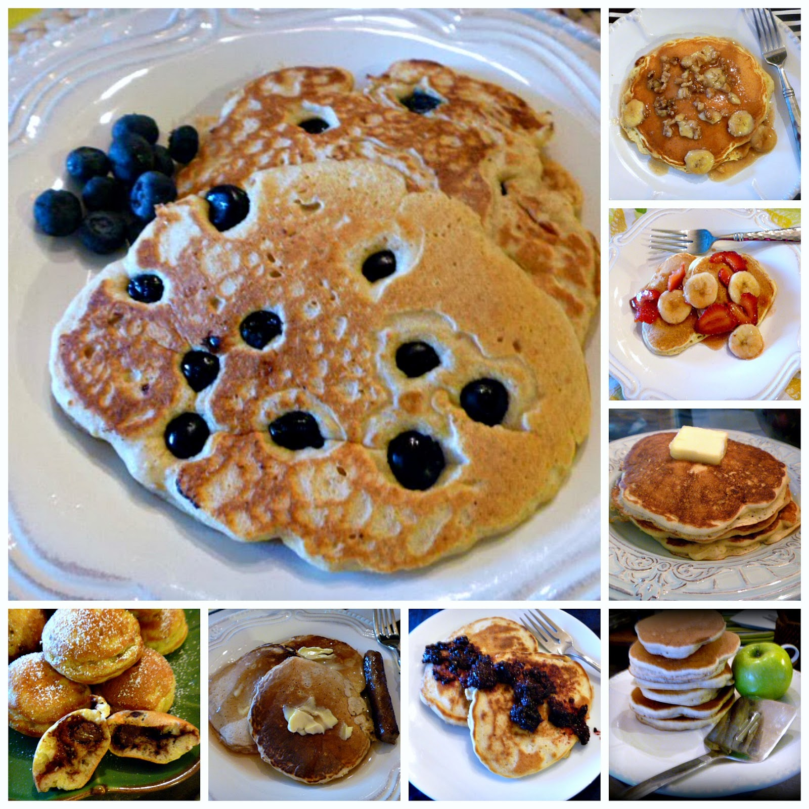 What's your favorite pancake?  Here are 8 deliscious pancake varities for you to choose from!  Celebrate Sunday, Mother's Day, or any day with family friendly comfort food. - Slice of Southern