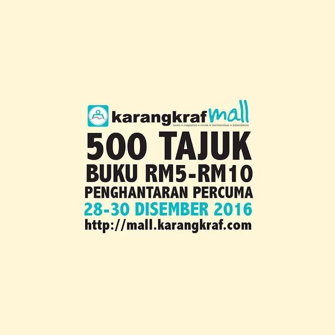 Borong Buku Jualan Akhir Tahun Karangkraf RM5-10 Sahaja!