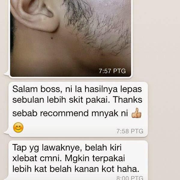 Testi Penggunaan Ombak Beard Oil Asli Malaysia
