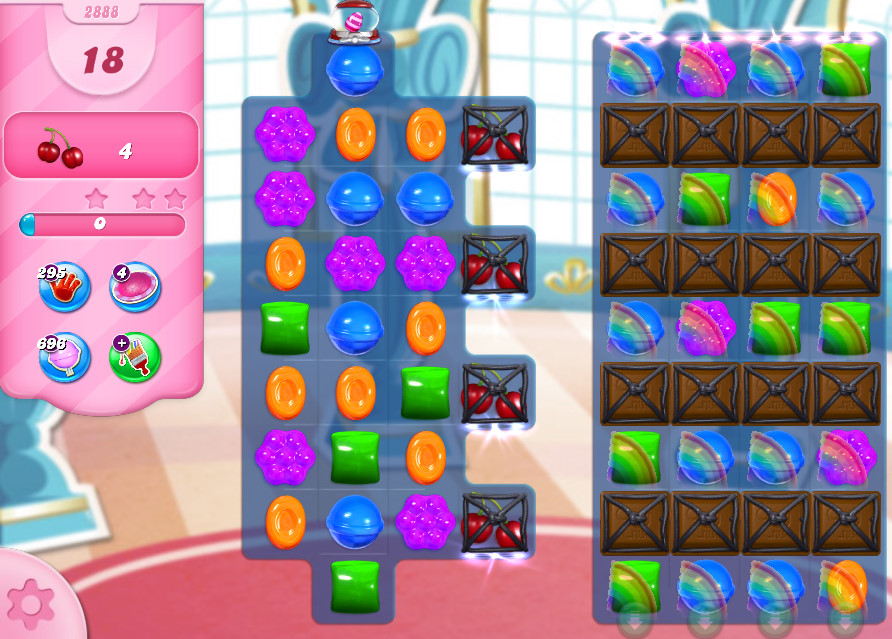 Candy Crush Saga level 2888