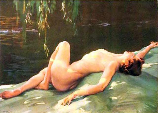 Caricias del sol, Francisco Pons Arnau, Pintor español, Pintor Valenciano, Pintura Valenciana, Impresionismo Valenciano