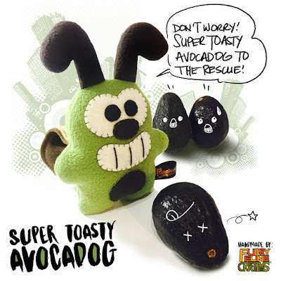 Super Toasty Avocadog Plush by Furry Feline Creatives