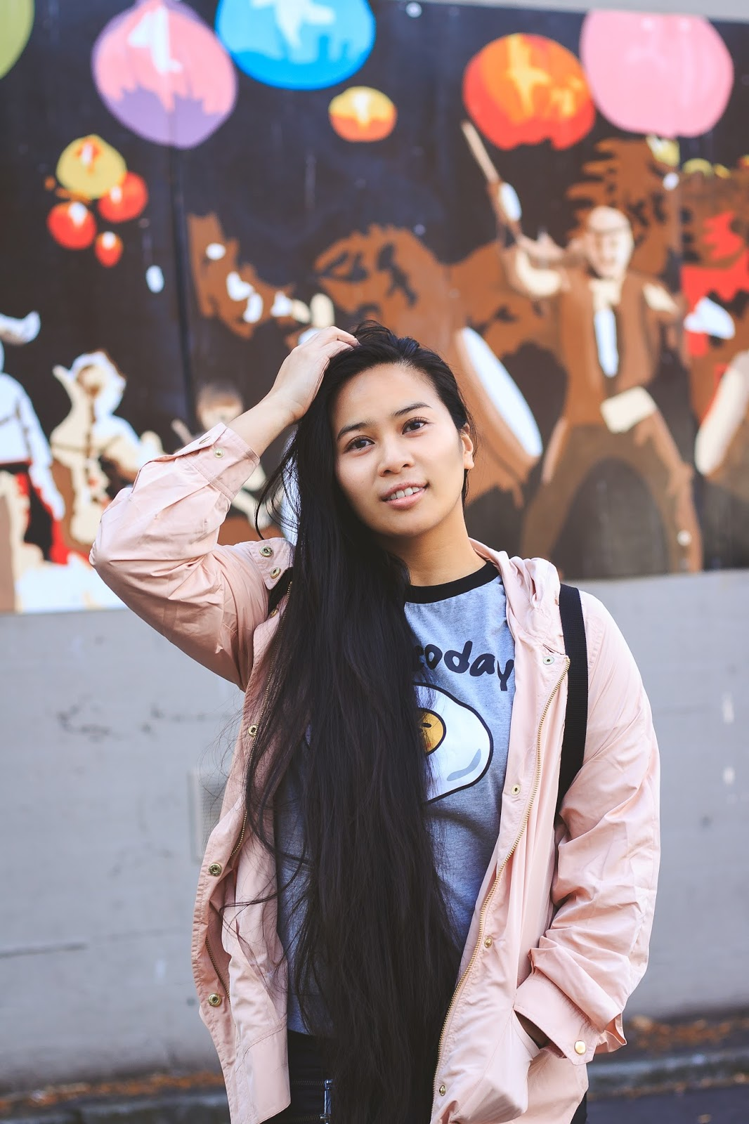 seattle blogger ootd chinatown sanrio nylon forever 21