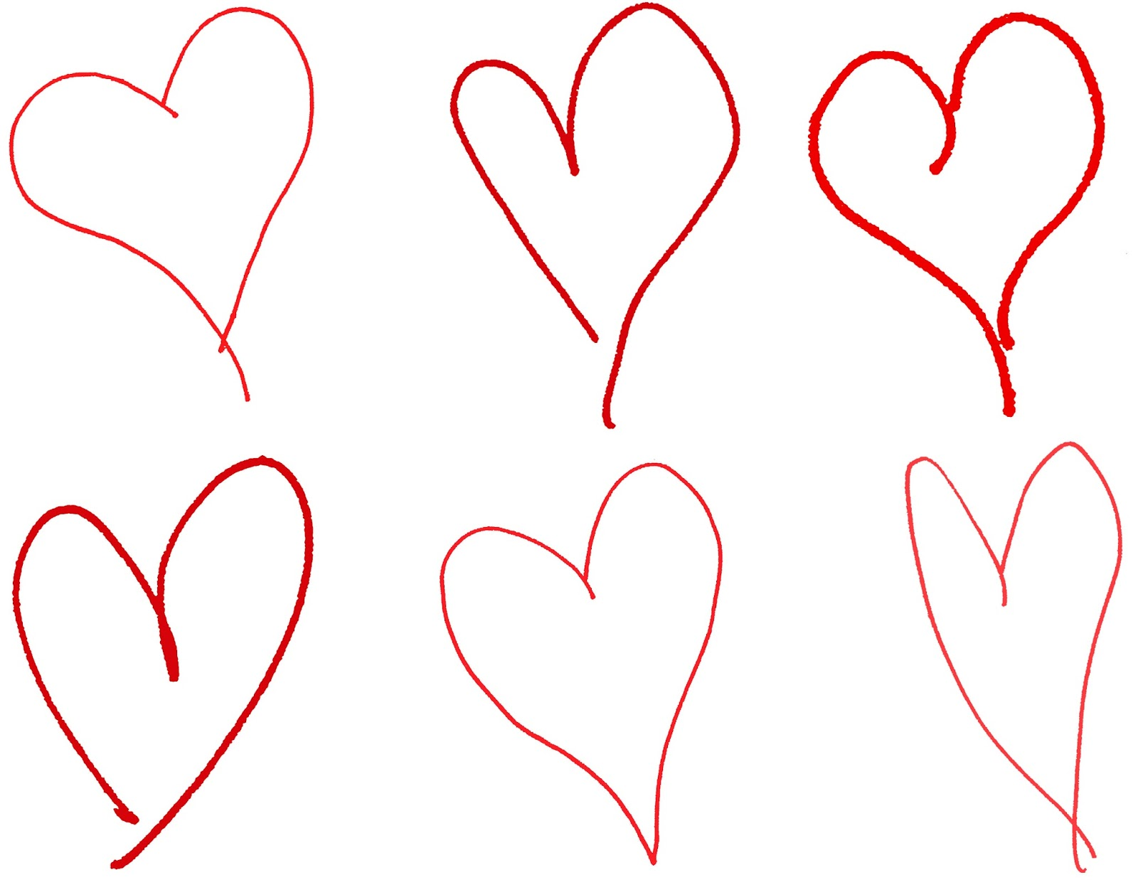 Line Drawing Valentine : Digital stamp design