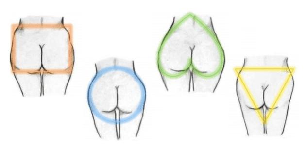 Resultado de imagen para formas de gluteos
