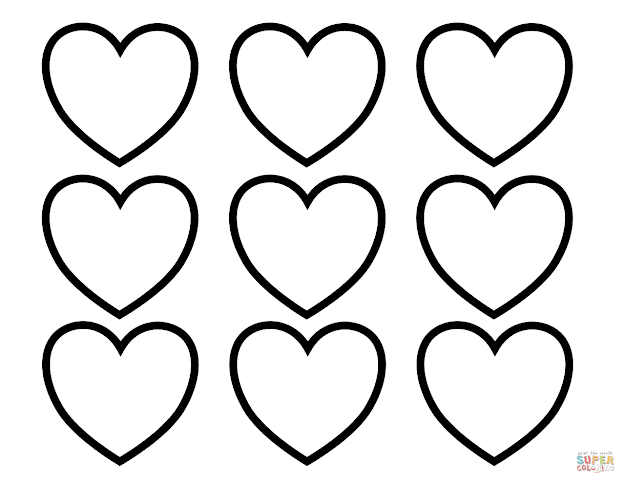 Click The Valentines Day Blank Hearts Coloring Pages