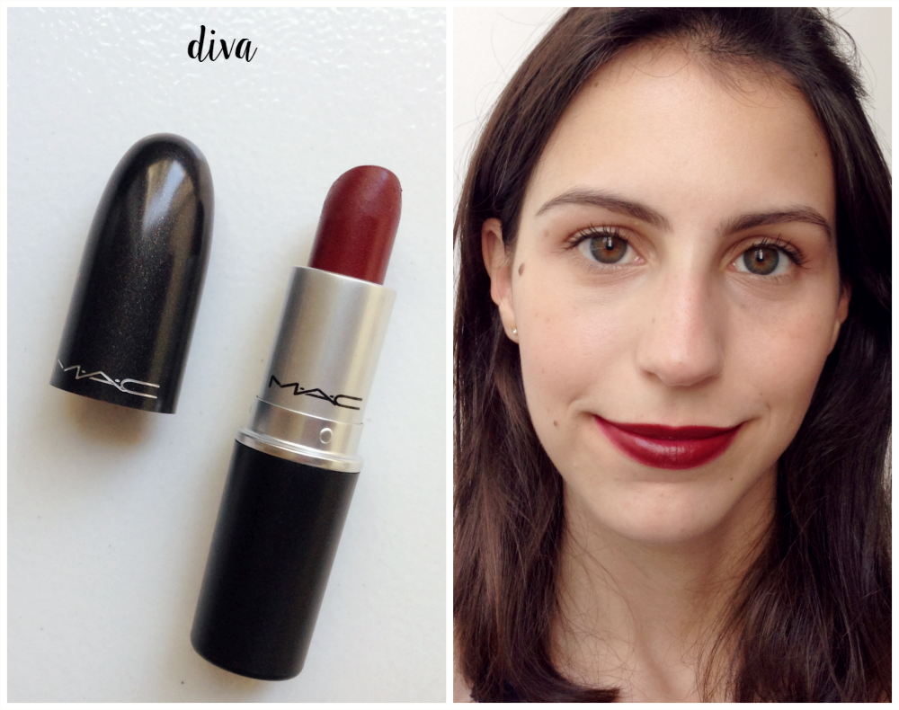 Meus batons da mac new in makeup for Mac cosmetics diva lipstick