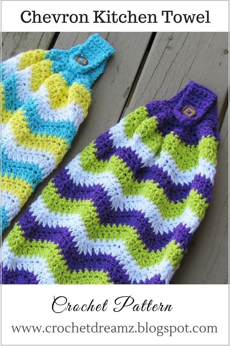 crochet dreamz: chevron kitchen towel, free crochet pattern