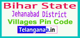 Jehanabad District Pin Codes in Bihar State