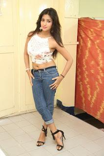 Deekshita Parvathi in a short crop top and Denim Jeans Spicy Pics Beautiful Actress Deekshita Parvathi January 2017 CelebxNext (247).JPG
