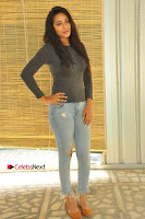 Actress Bhanu Tripathri Pos in Ripped Jeans at Iddari Madhya 18 Movie Pressmeet  0038.JPG