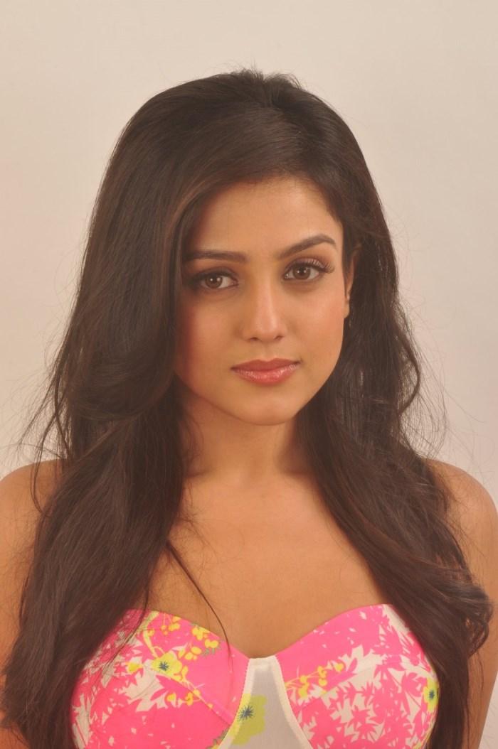 Film Actress Mishti Long Hair Stills In Pink Top