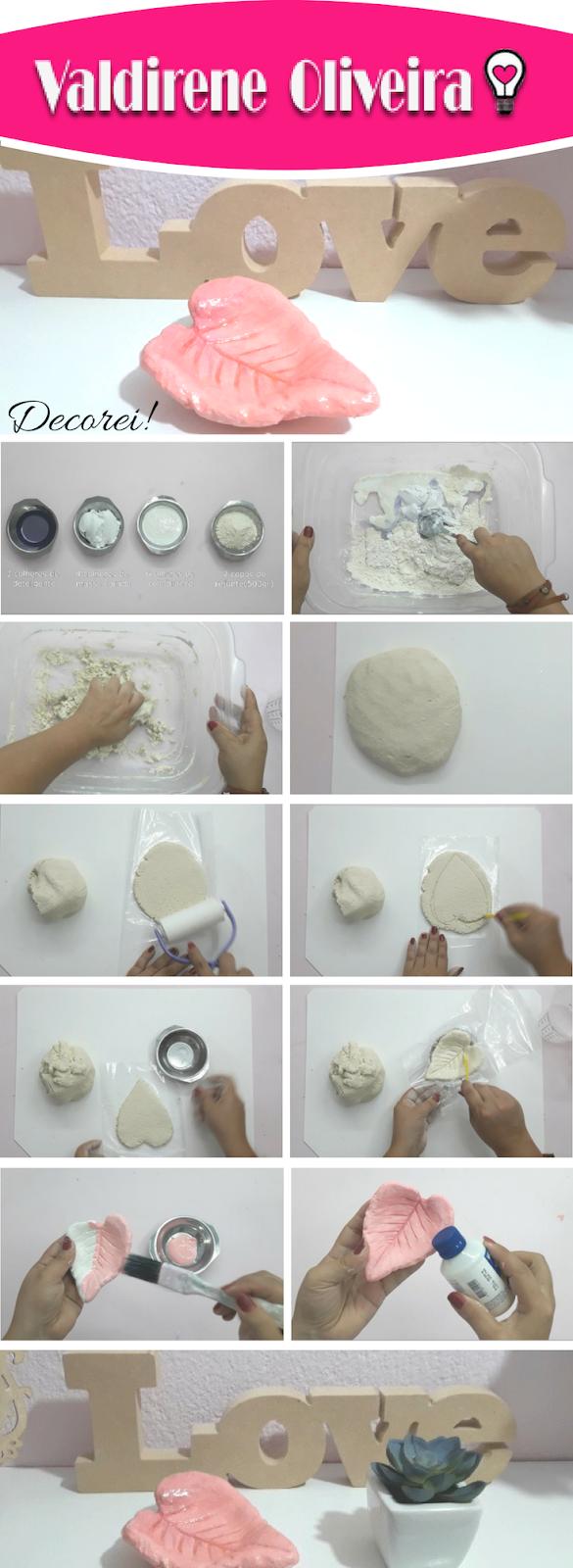 Como modelar com massa de artesanato