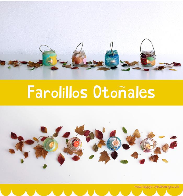 Farolillos otoñales upcycling