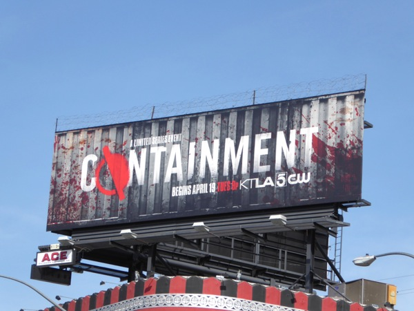 Containment TV miniseries billboard