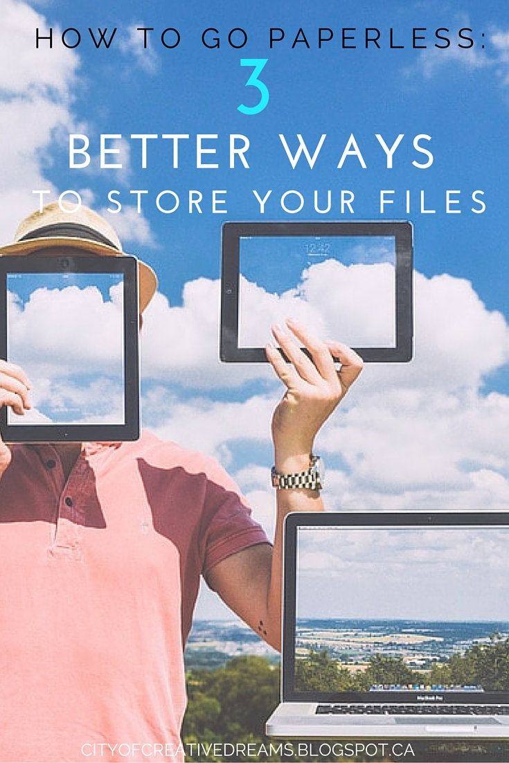 How to Go Paperless - 3 Better Ways To Store Your Files
