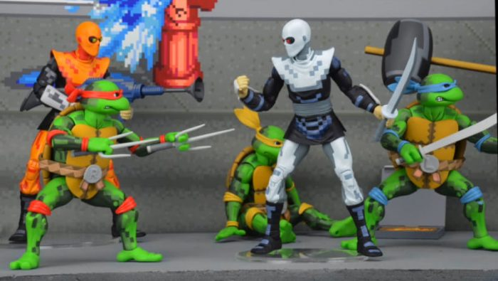 action figures posing