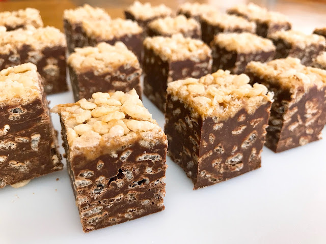 Chocolate peanut butter fudge with crispy cereal ccuart Choice Image