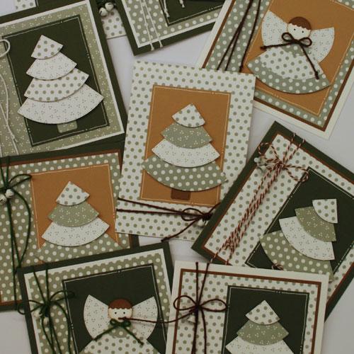 Marjoleines Blog 9 Kaarten Met Een Stans Van Een Kerstboom Waar