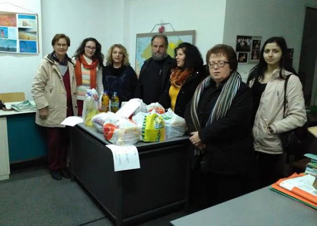 Προσφορά τροφίμων από το Εσπερινό Λύκειο Ναυπλίου στην Πύλη Πολιτισμού