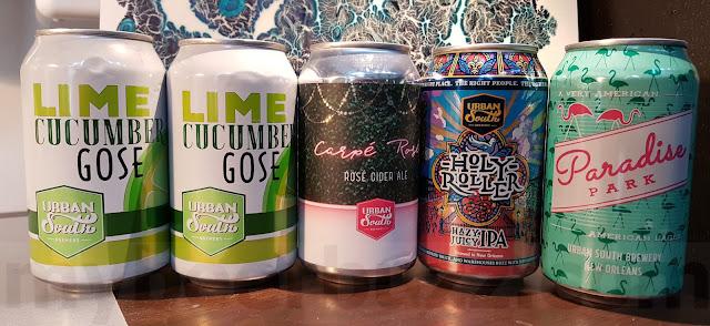 Mybeerbuzz .com Highlights Urban South Brewery Lime Cucumber Gose, Carpé Rosé, Paradise Park & Holy Roller Hazy Juicy IPA