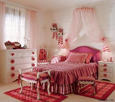 спальни, романтические спальни, спальни для девочек