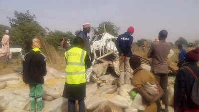 Photos: Road accident leaves five dead, others injured along Sokoto-Kebbi Road