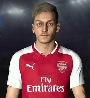 PES 2017 Faces Mesut Ozil ( Blonde ) by Ben Hossam FaceMaker