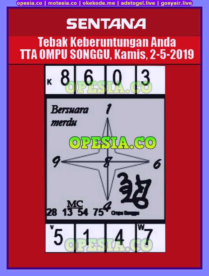 Forum Syair sgp hari ini Kamis 2 Mei 2019   Opesia The Master Code