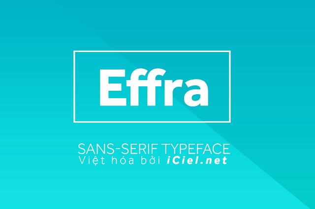 [Sans-serif] Effra Việt hóa