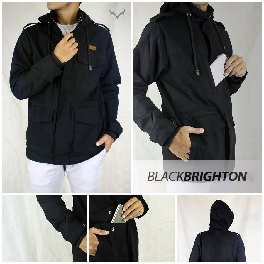 Jaket Parka Black Brighton Bahan   Marsoto Canvas Ukuran   S 0942f55d61