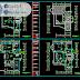 مخطط منزل 9x12 ثلاثة طوابق اوتوكاد dwg