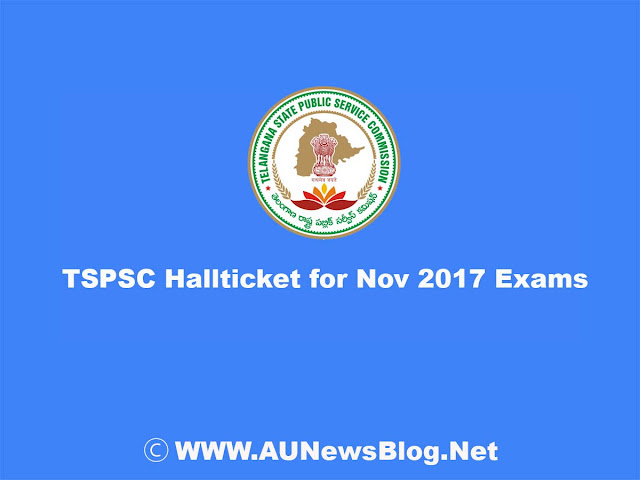 {Download} TSPSC FRO Exam Hall Ticket for 11 & 12th November 2017 Exams