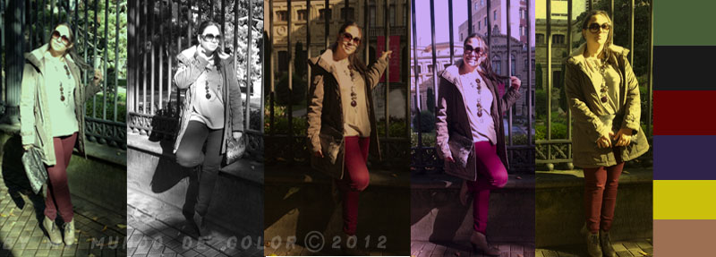 look burgundy pants