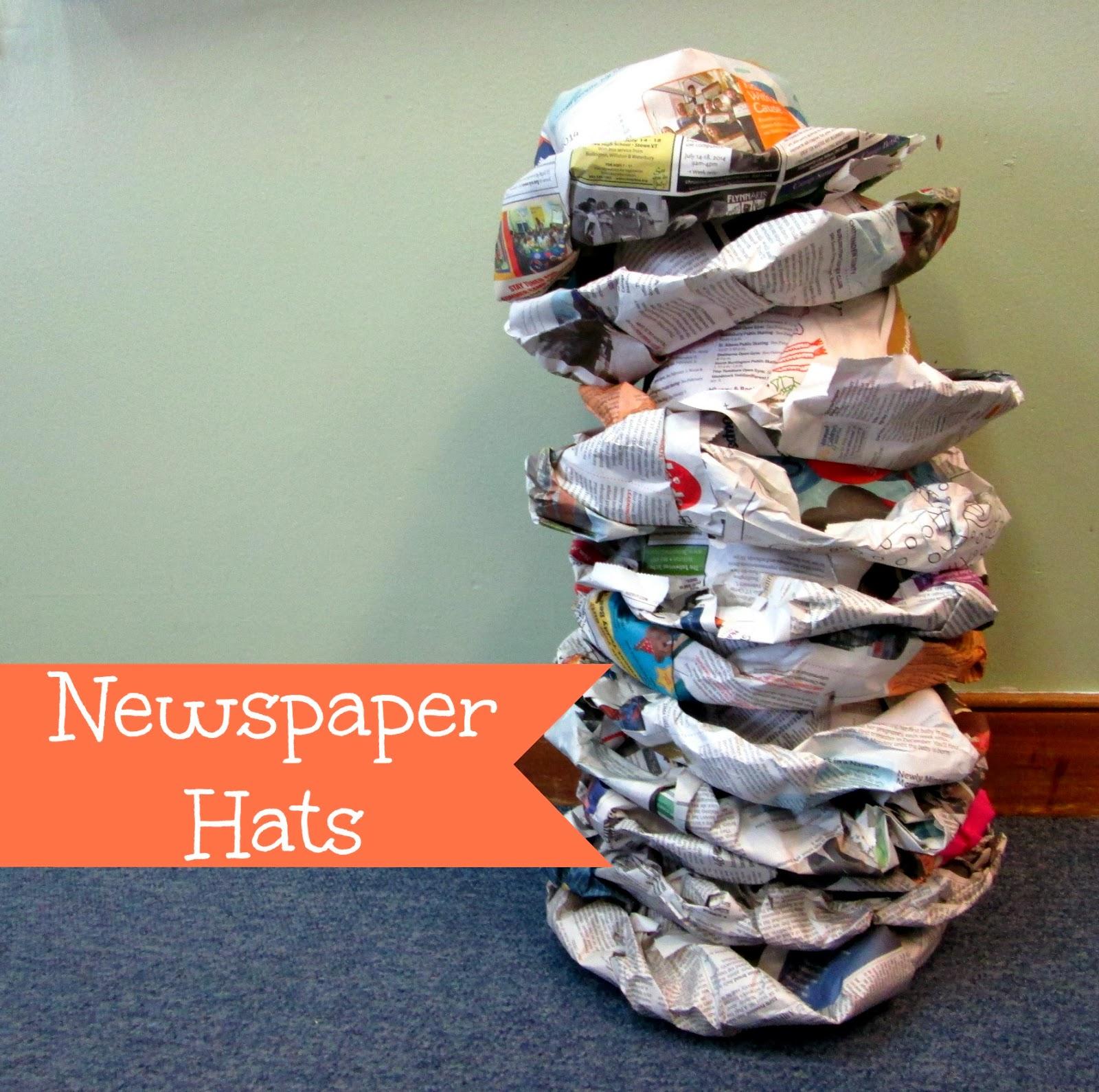 Miss Yellow Shoes Preschool Activity Newspaper Hats