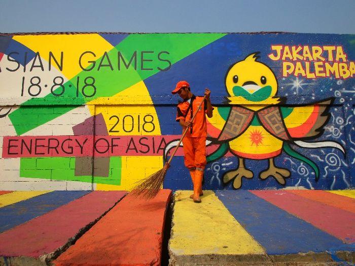 Foto-Foto Mural Asian Games 2018 Di Jakarta dan Palembang - 1