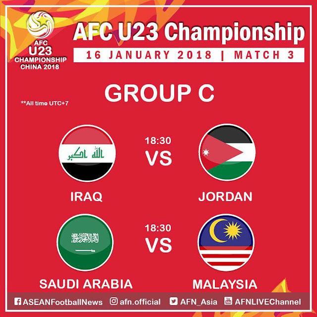 Live Streaming Malaysia U23 vs Arab Saudi U23 AFC Cup 2018